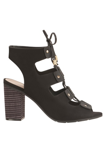Beira Rio black Tie Up Ankled High Block Sandal MO996SH23EUQHK_1