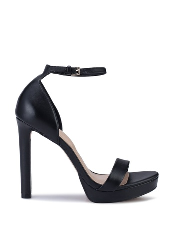 ALDO 黑色 Nydirania Open Toe Ankle Strap Block Heels 8288ESH0CA87A7GS_1