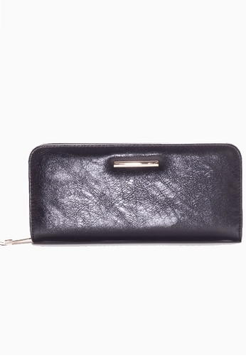 Stylesource black Zip Around Long Wallet ST896AC52DPFPH_1