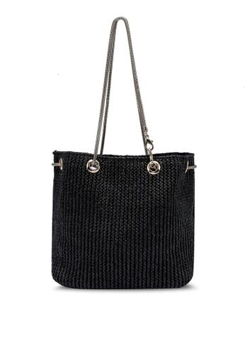 Red's Revenge black Minimalist Straw Bucket Bag EB839AC9154BD4GS_1