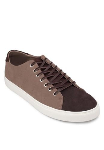 撞色拼接仿皮休閒鞋, 鞋, zalora 衣服評價休閒鞋