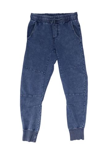 FOX Kids & Baby blue Denim French Terry Jogger Pants BAD20KA07B5C88GS_1