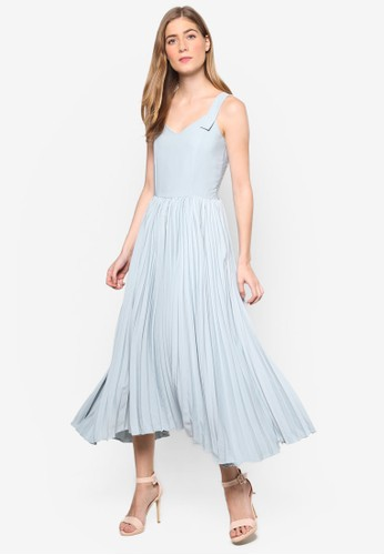 Jovie's 起褶無袖連身長裙,esprit手錶專櫃 服飾, 洋裝