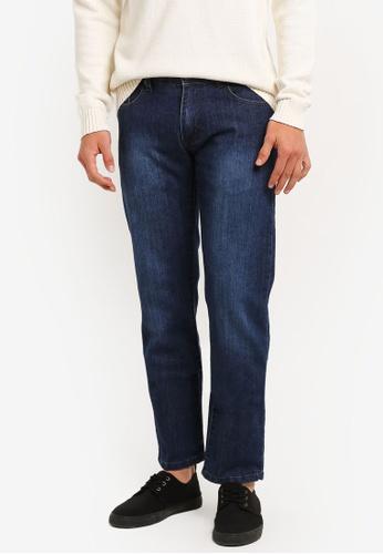 Fidelio 藍色 565 Slim Straight Jeans FI826AA0RLX0MY_1