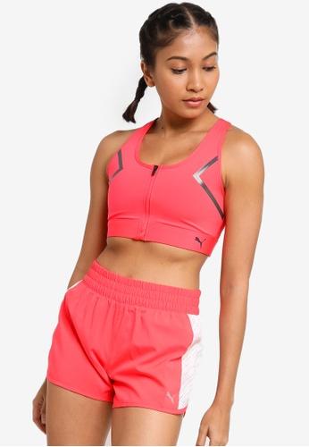 PUMA orange High Impact Front Zip Women's Training Bra E0541USFA49468GS_1