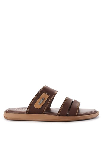 Pakalolo Boots brown Two Strap Sandal D76BFSH61255AEGS_1