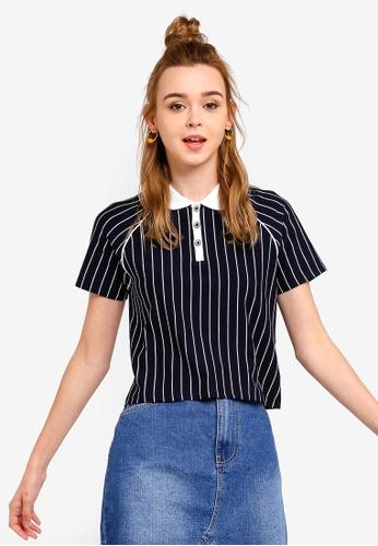 Something Borrowed 藍色 條紋T恤 0BC08AADA4CE78GS_1
