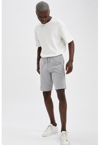 DeFacto grey Regular Fit Sweatshirt Bermuda Shorts D26ABAAF20B279GS_1