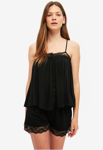 Trendyol black Lace Pyjama Set AB862AAAEBF866GS_1