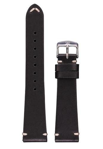 Undone black Undone Black Calf Leather Strap 20mm (Silver Buckle) UN712AC2VEJRHK_1