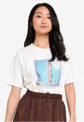 niko and ... white Bar Printed T-Shirt D082EAA07D0D0CGS_1