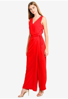 Dressing Paula red Wrap-Effect Crepe De Chine Jumpsuit 4BBBAAAF2E6541GS 1 d5b66bcdc