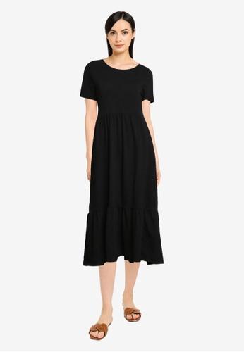 Old Navy black Tiered Knit Midi Dress 96921AA612BE9CGS_1