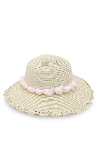 LC Waikiki beige Girl's Straw Hat FFEAAKCC3870F4GS_1