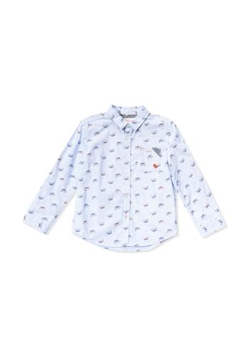 PONEY blue Poney Toddler Zayden Freestyle Printed Long Sleeve Shirt D9910KAC302DC5GS_1