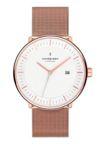 Nordgreen gold Nordgreen Philosopher Rose Gold 36 mm - Rose Gold Mesh Watch 1D5CFAC295E4F5GS_1