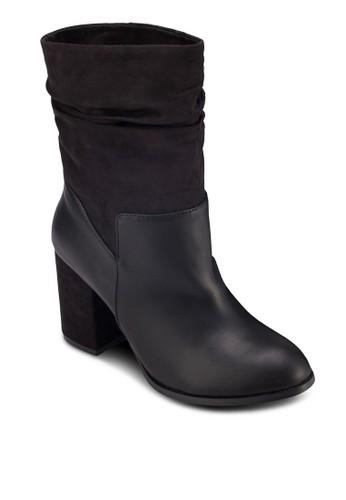 牛皮粗跟短靴, 女鞋zalora taiwan 時尚購物網鞋子, 靴子