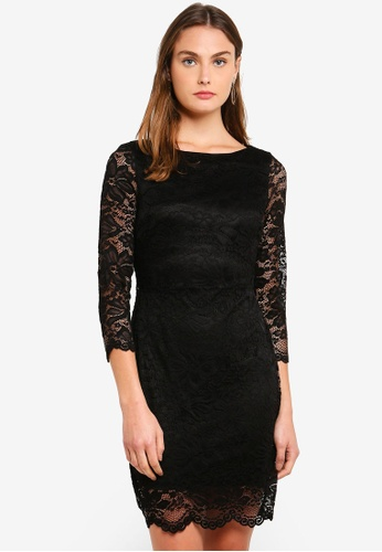 Vero Moda black Petunia Lace Dress 2AA42AAB5EC891GS_1