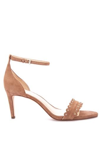 Nine West brown Idrina Heeled Sandals 7C72FSH8AB0380GS_1