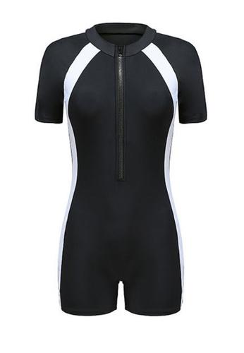 Twenty Eight Shoes black VANSA Short Sleeves Diving Swimsuit  VCW-Sw2208S 3B5E5US6FAFA86GS_1