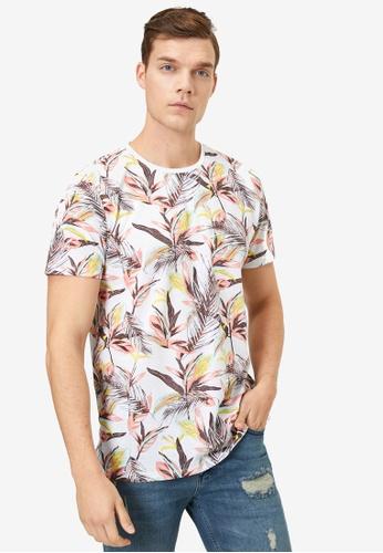 KOTON white Printed T-Shirt 3F1EBAAEB674F8GS_1