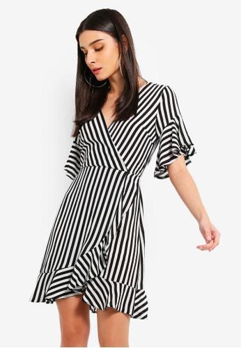 cb54ce33e70 Buy AX Paris Black Striped Wrap Mini Dress Online on ZALORA Singapore