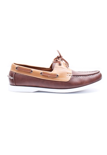 Moley brown Duo Tone Boat Shoes MO329SH52AFJSG_1