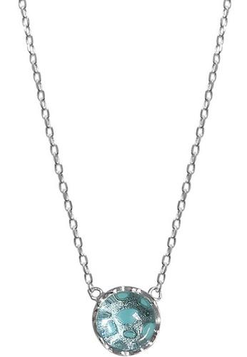 LYCKA blue LPP03605 S925 Silver Blue Water Drop Necklace 8E136AC30D6C5EGS_1