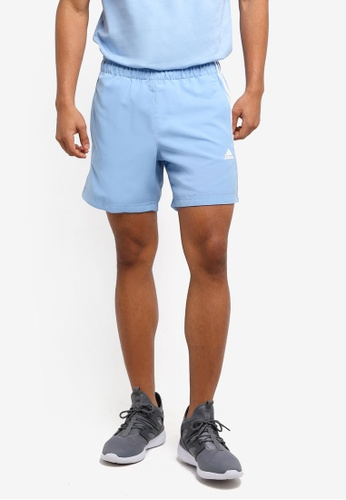 adidas white and blue adidas Sports Essential 3-Stripes Chelsea Shorts AD372AA0SUGHMY_1