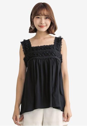 Tokichoi black Lace Panel Top 8AC9EAA068E464GS_1