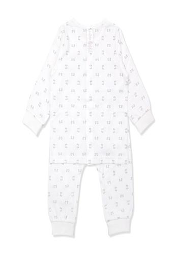 Organic mom white Organic Cotton Benny Mouse Lightweight Long Sleeves Pjs 97750KAF5D76CFGS_1