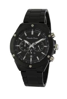 harga Alexandre Christie Jam Tangan Pria Chronograph AC 6458MC FB SL - Hitam Zalora.co.id