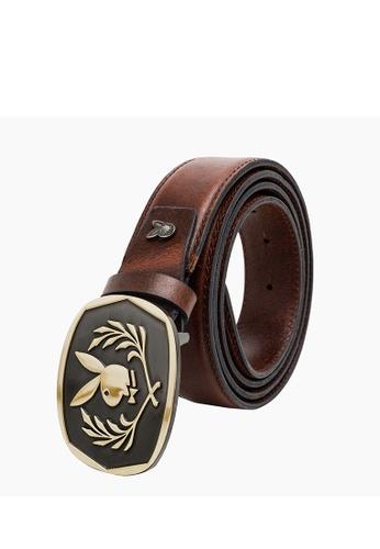 Playboy brown Men's Belt - 35mm Reversible Belt 3B267ACEE6AD3CGS_1