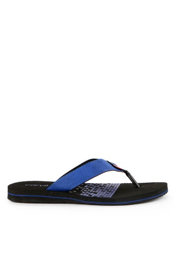 CARVIL black Carvil Sandal Sponge Man Barkley Black Royal Blue 46593SH5742BEEGS_1