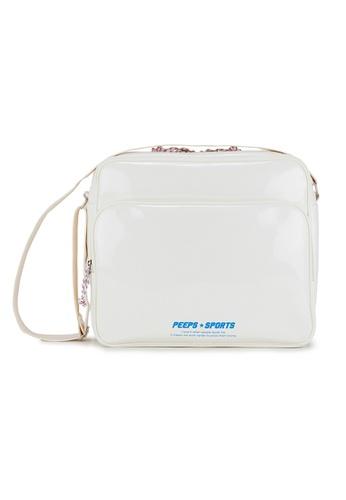 Peeps white Retro 90 Enamel Cross Bag DA04BACF2DB54BGS_1