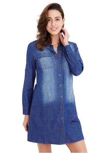 385257cbfc Buy Mamaway Maternity   Nursing Denim Shirt Dress Online