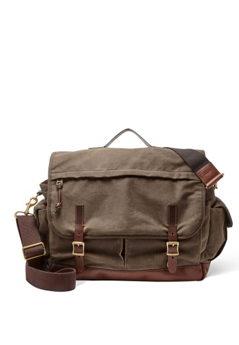 Fossil brown Fossil Defender Brown Leather Messenger Bag MBG9118200 FO164AC0S1QFMY_1