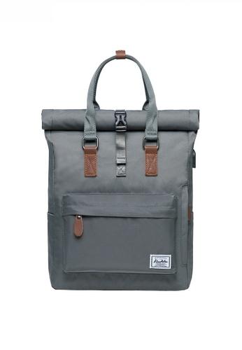 Twenty Eight Shoes grey Multi Purpose Leisure Travel Laptop Backpack JW KK-K1047 27083AC8E32BE2GS_1