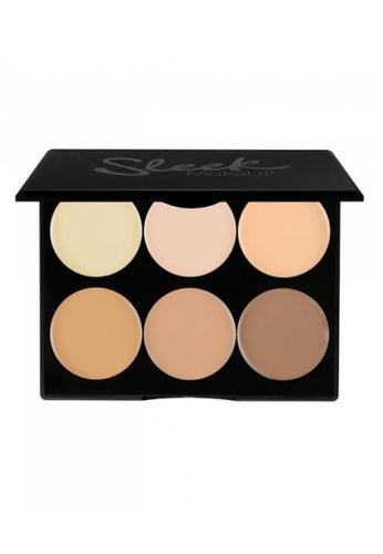 Sleek brown and beige Sleek MakeUP Cream Contour - Light 095 SL667BE0RO3WMY_1
