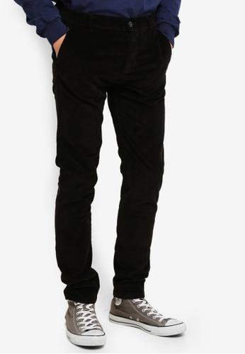 Topman 黑色 黑色 燈芯絨Stretch 緊身長褲 11DF9AA0F71211GS_1