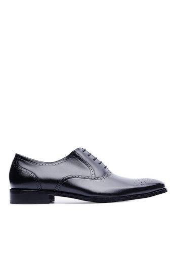 Life8 black Nappa Cow Leather Embossed Oxford Shoes-09148-Black LI286SH32USLMY_1