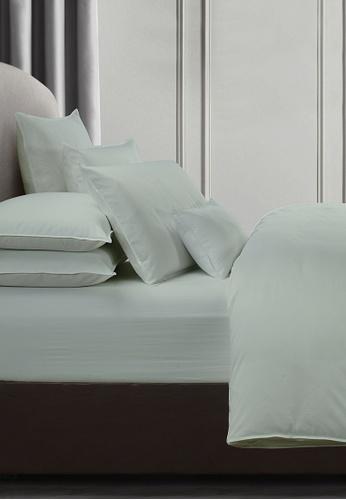 Grand Atelier green Celadon 1000TC 100% Egyptian Cotton Sateen Bolstercase 1pcs (Suite Essentials Collection) A60C6HL927315DGS_1