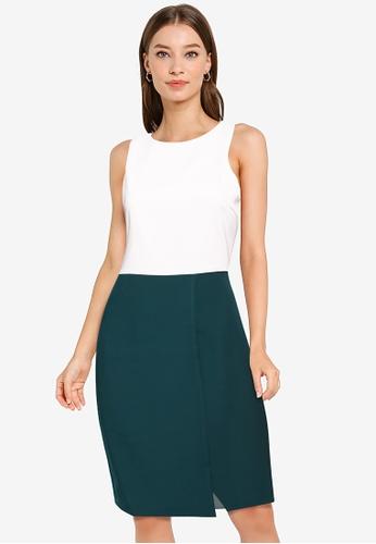ZALORA WORK multi Asymmetric Contrast Dress 4A2E8AABBFCCE7GS_1