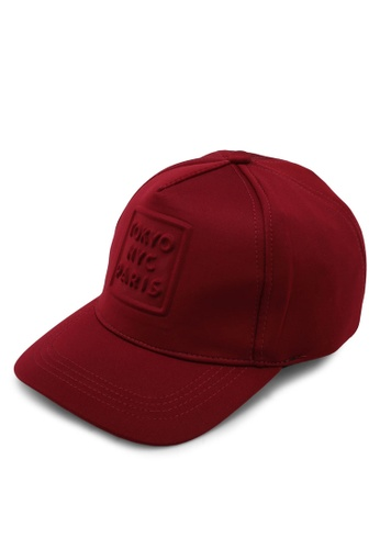 River Island red Burgundy NYC Cap ACCF3ACF240917GS_1