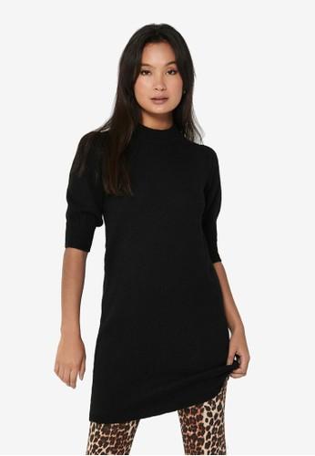 JACQUELINE DE YONG black Rue 2/4 Knit Dress 421ACAA165E820GS_1
