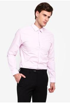 8c3c267ab4601 Burton Menswear London pink Pink Slim Fit Gingham Shirt A74E9AAFF91B9EGS_1
