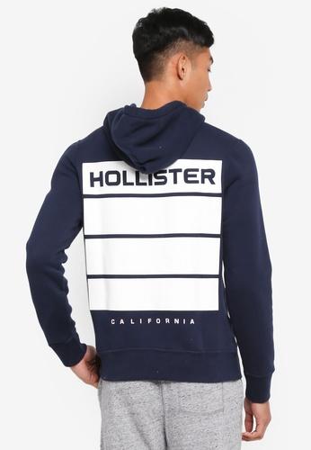 Hollister navy Back Print Hoodie 6891DAA7250B59GS_1