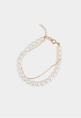 monojewelry THE CLASSIC PEARL-SILVER LAYERING BRACELET AE8C5AC65DCE1FGS_1