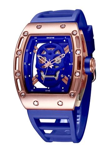 Sk Time Watch Shop blue Japan Design Skone Skull watch BE2B8AC77F1DC9GS_1