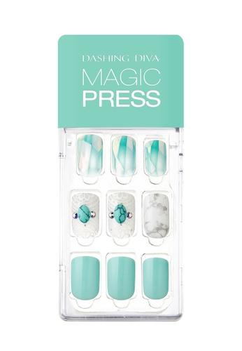 Dashing Diva green Dashing Diva 1 SEC. MAGIC PRESS Manicure Sensual Turquoise/ Press on Nails /Nail Tips 5EBF6BE9F9485CGS_1